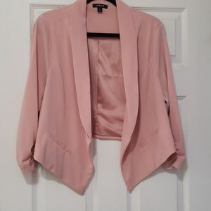 Lined peach color Torrid jacket size 1